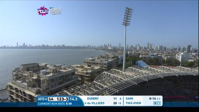 A view of Wankhede from on high