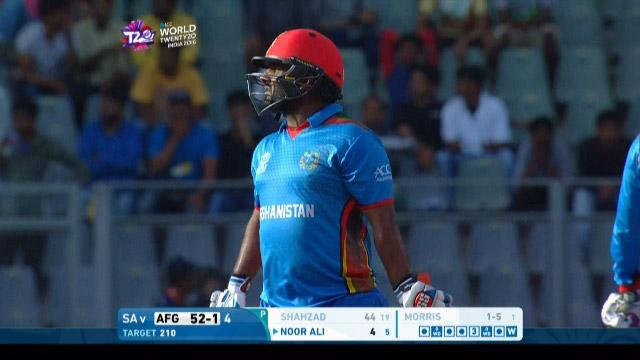 Mohammad Shahzad Wicket Fall SA V AFG Video ICC WT20 2016
