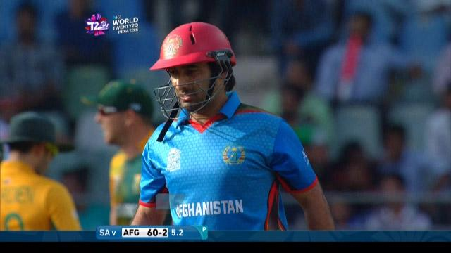 Asghar Stanikzai Wicket Fall SA V AFG Video ICC WT20 2016