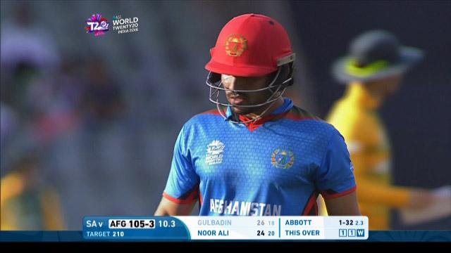 Gulbadin Naib Wicket Fall SA V AFG Video ICC WT20 2016