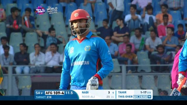 Noor Ali Zadran Wicket Fall SA V AFG Video ICC WT20 2016