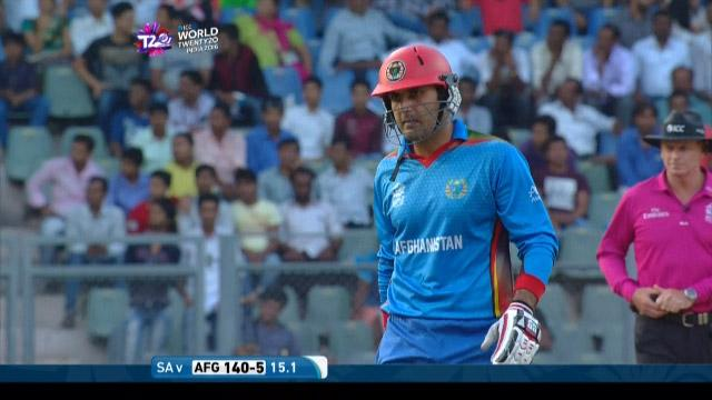 Mohammad Nabi Wicket Fall SA V AFG Video ICC WT20 2016
