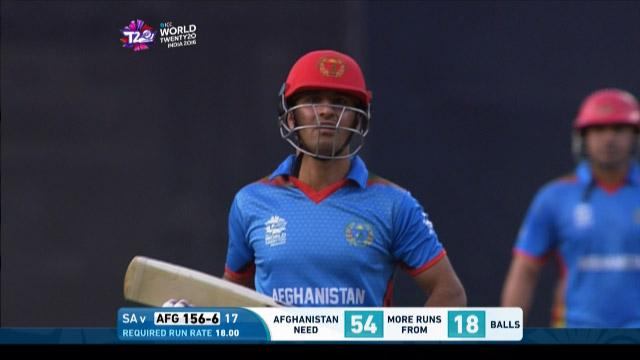 Najibullah Zadran Wicket Fall SA V AFG Video ICC WT20 2016