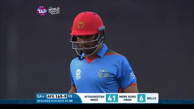 Dawlat Zadran Wicket Fall SA V AFG Video ICC WT20 2016