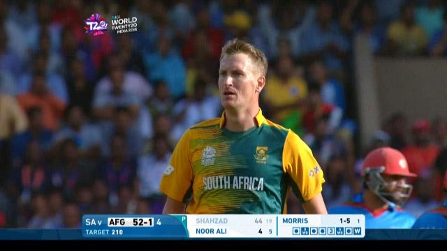Chris Morris 4-27 for SA V AFG ICC WT20 2016