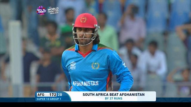 Shapoor Zadran Wicket Fall SA V AFG Video ICC WT20 2016