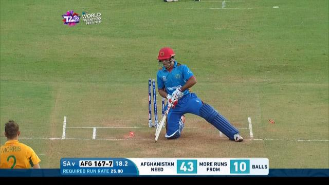 Afghanistan wicket Losses v South Africa Video ICC WT20 2016