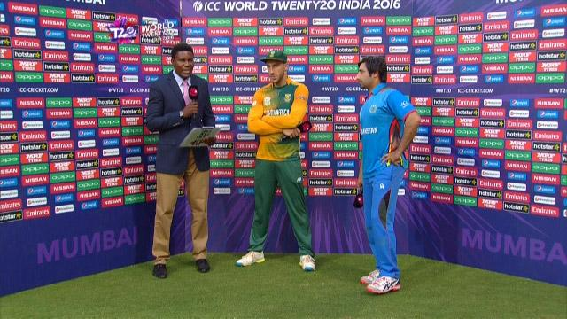 Match Presentation for SA V AFG Match 20 ICC WT20 2016