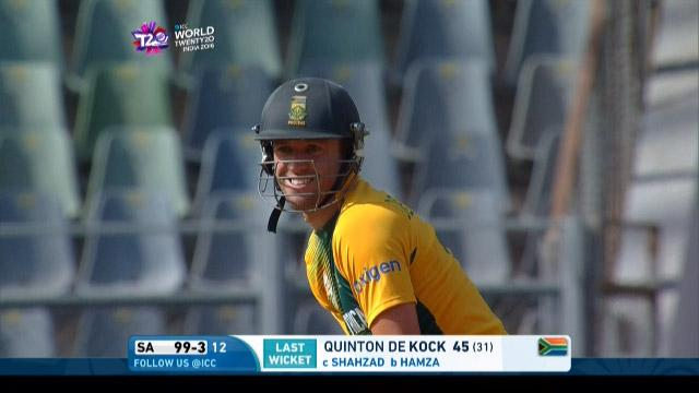 AB de Villiers Match Hero for South Africa v AFG ICC WT20 2016