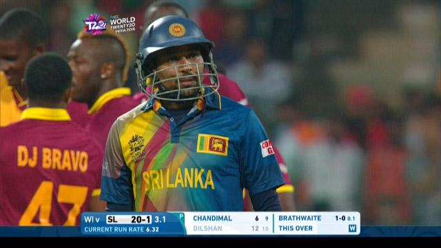 Tillakaratne Dilshan Wicket Fall SL V WI Video ICC WT20 2016