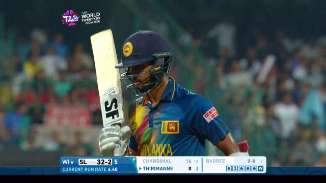 Dinesh Chandimal Wicket Fall SL V WI Video ICC WT20 2016