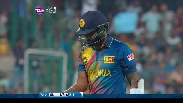 Chamara Kapugedera Wicket Fall SL V WI Video ICC WT20 2016