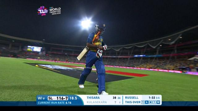 Nuwan Kulasekara Wicket Fall SL V WI Video ICC WT20 2016