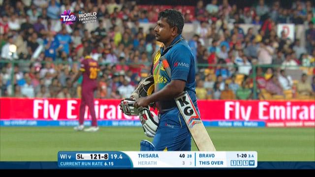 Rangana Herath Wicket Fall SL V WI Video ICC WT20 2016