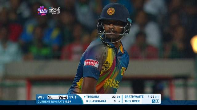 Thisara Perera Innings for Sri Lanka V West Indies Video ICC WT20 2016