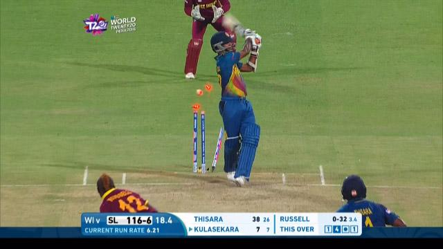 Sri Lanka wicket Losses v West Indies Video ICC WT20 2016