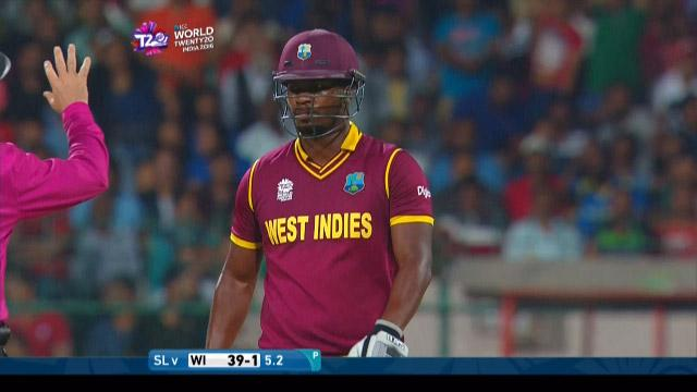 Johnson Charles Wicket Fall SL V WI Video ICC WT20 2016