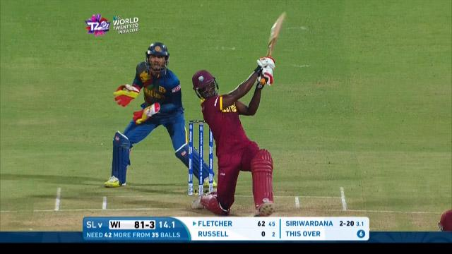 Fletcher hits Siriwardana for a huge Six!