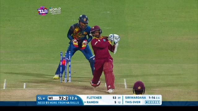 West Indies wicket Losses v Sri Lanka Video ICC WT20 2016