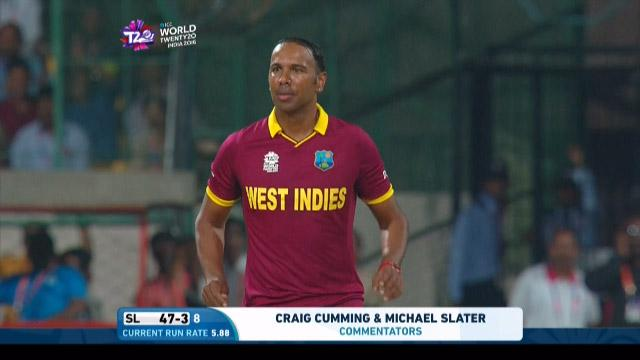 Samuel Badree Match Hero for West Indies v SL ICC WT20 2016