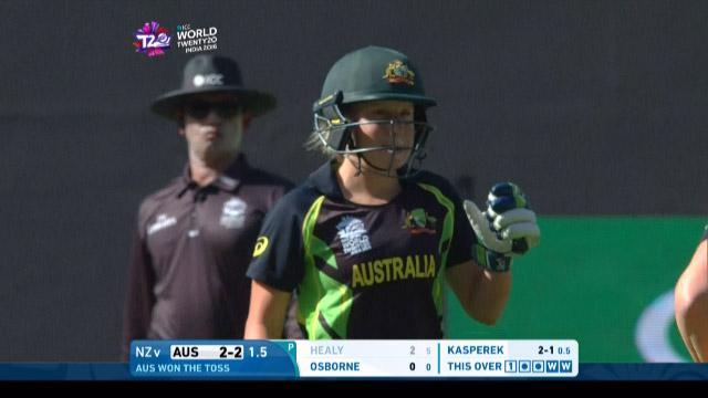 Alyssa Healy Wicket Fall AUS V NZ Video ICC Womens WT20 2016