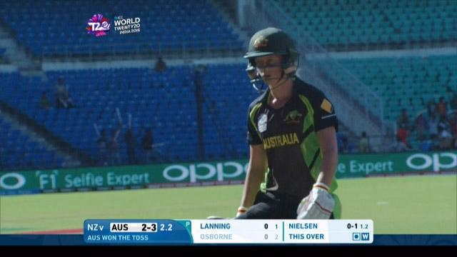 Meg Lanning Wicket Fall AUS V NZ Video ICC Womens WT20 2016