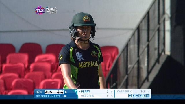 Erin Osbrone Wicket Fall AUS V NZ Video ICC Womens WT20 2016