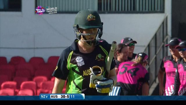 Alex Blackwell Wicket Fall AUS V NZ Video ICC Womens WT20 2016