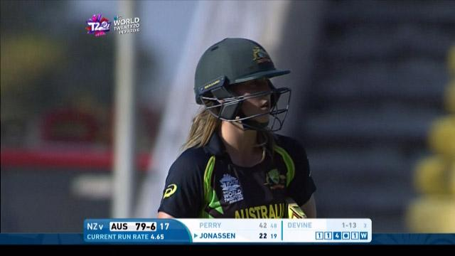 Ellyse Perry Wicket Fall AUS V NZ Video ICC Womens WT20 2016
