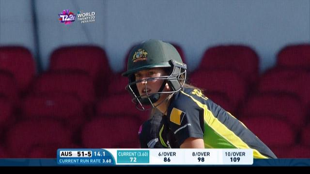 Ellyse Perry Innings for Australia V New Zealand Video ICC Womens WT20 2016
