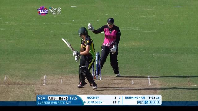 Australia wicket Losses v New Zealand Video ICC Womens WT20 2016