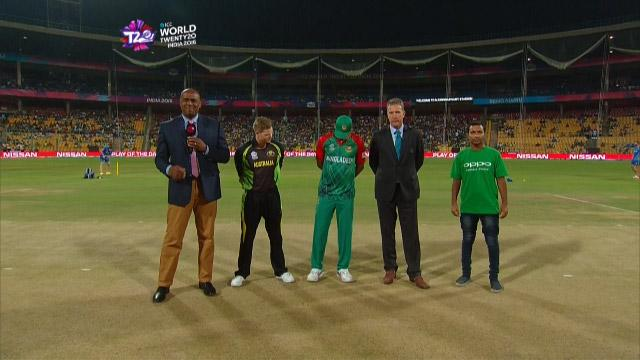 Australia wins Toss against Bangladesh Match 22 ICC WT20 2016