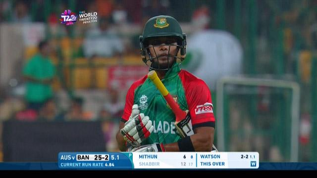 Bangladesh wicket Losses v Australia Video ICC WT20 2016