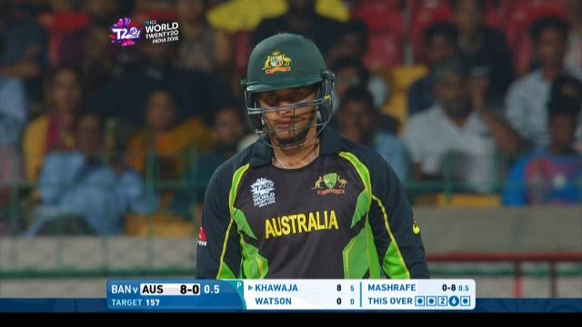 Usman Khawaja Innings for Australia V Bangladesh Video ICC WT20 2016