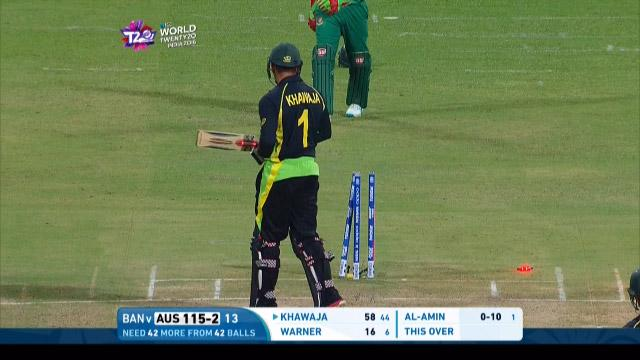 Australia wicket Losses v Bangladesh Video ICC WT20 2016