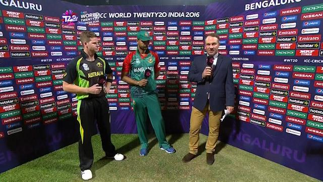 Match Presentation for AUS V BAN Match 22 ICC WT20 2016