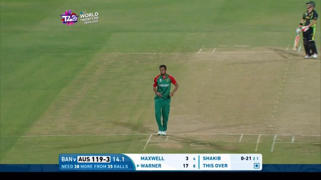 Shakib's stunning caught and bowled