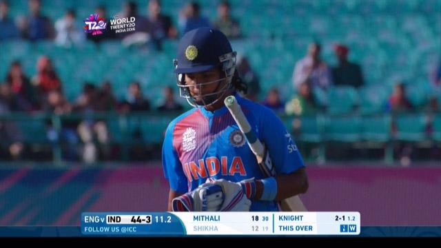 Shikha Pandey Wicket Fall ENG V IND Video ICC Womens WT20 2016