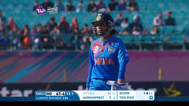 Mithali Raj Wicket Fall ENG V IND Video ICC Womens WT20 2016