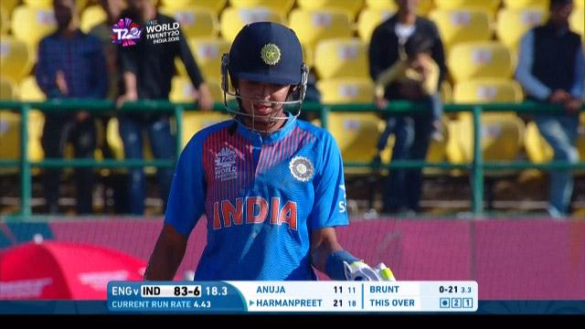 Harmanpreet Kaur Wicket Fall ENG V IND Video ICC Womens WT20 2016