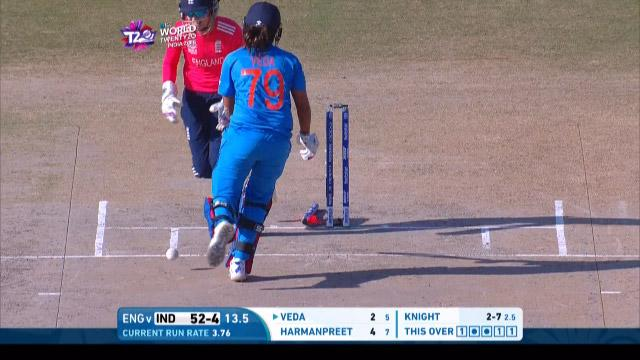 India wicket Losses v England Video ICC Womens WT20 2016