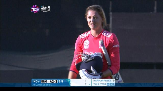 Sarah Taylor Wicket Fall ENG V IND Video ICC Womens WT20 2016