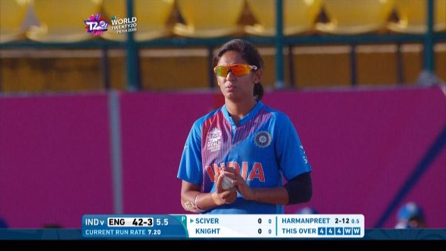 Harmanpreet comes within inches of a hat-trick