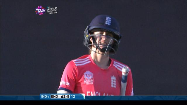 Lydia Greenway Wicket Fall ENG V IND Video ICC Womens WT20 2016