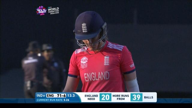 Natalie Sciver Wicket Fall ENG V IND Video ICC Womens WT20 2016