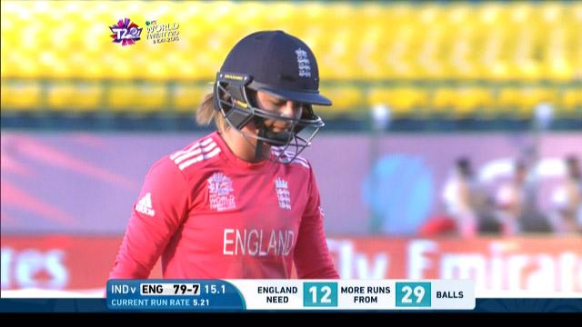 Danielle Wyatt Wicket Fall ENG V IND Video ICC Womens WT20 2016