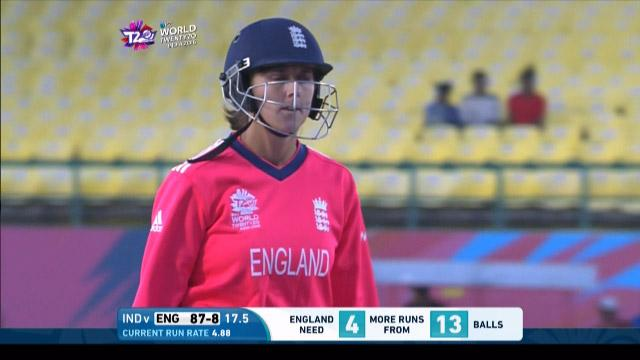 Jenny Gunn Wicket Fall ENG V IND Video ICC Womens WT20 2016