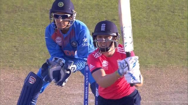 England Innings Super Shots v IND ICC Womens WT20 2016
