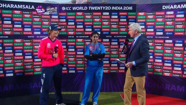 Match Presentation for ENG V IND Match 11 ICC Womens WT20 2016