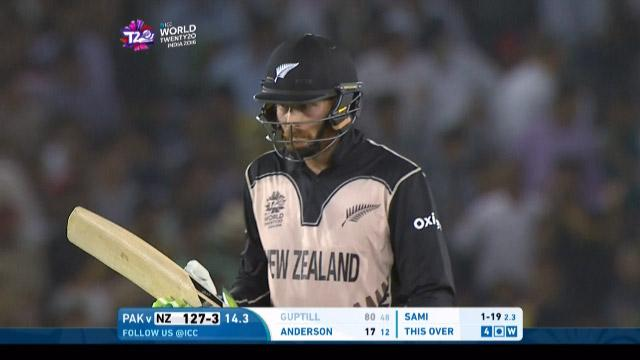 Martin Guptill Wicket Fall NZ V PAK Video ICC WT20 2016